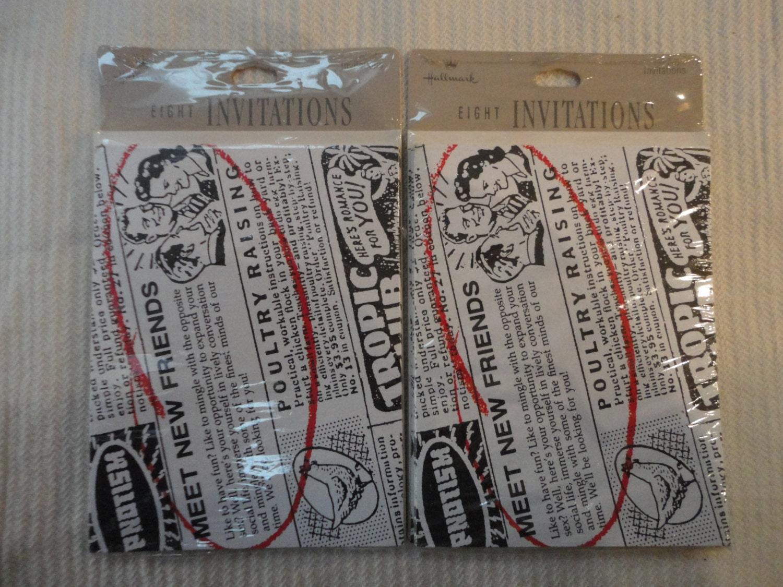 Vintage hallmark invitations meet new friends 2 unopened packs 16 sold by bonneyhillshop solutioingenieria Images
