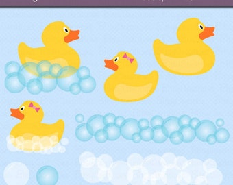 Rubber Duck Digital Art Set Clipart Commercial Use Clip Art INSTANT DOWNLOAD