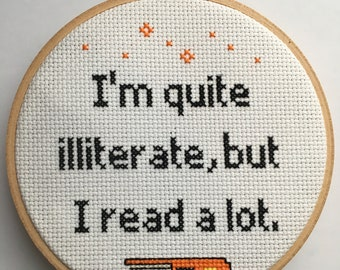 The Catcher in the Rye Quote Cross Stitch Hoop