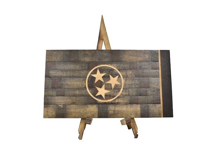 Tennessee State Whiskey Barrel Flag