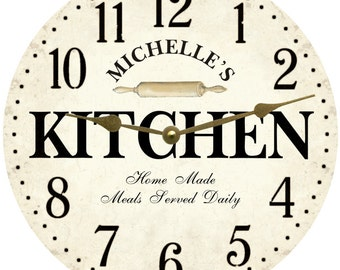 Kitchen clock | Etsy