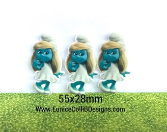 5-10 pcs character  planar resin