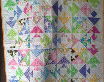 Modern Kissing Fish baby quilt