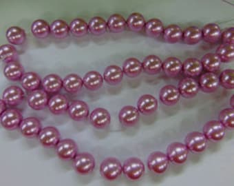 Pearls - 16mm Lilac Glass Pearls - 50 Glass Pearl Beads - No Longer Available from Fire Mountain
