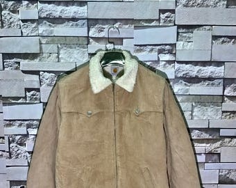 Rare Vintage 90s Carhartt Corduroy Winter Heavy Jacket Size Medium M / Carhartt sweatshirt  / Carhartt  Hoodie / Bomber Jacket