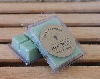 Day at the Spa Wax Melts - Soy Blended Wax - Wax Cubes - Wax Tarts - Hand Poured - Gift Idea