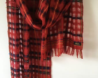 handwoven lattice scarf