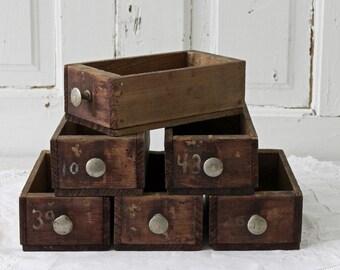 industrial wood drawers