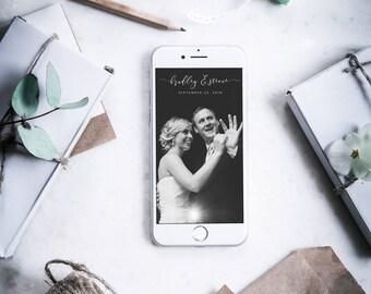 Custom Snapchat Geofilter - Elegant Script Wedding Snapchat Geofilter