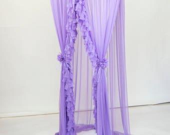 Lilac Purple Baldachin - Play Canopy, Crib Canopy, Kids canopy, Nursery canopy, Bed canopy, Play room canopy, Hanging Canopy, Nook, Photo
