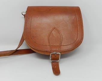 Old leather bag, free shipping