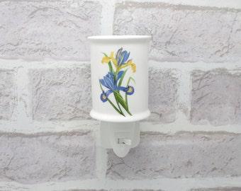 Blue Iris Night Light With On/Off Switch Nightlight Electric UK Tea Light  5032