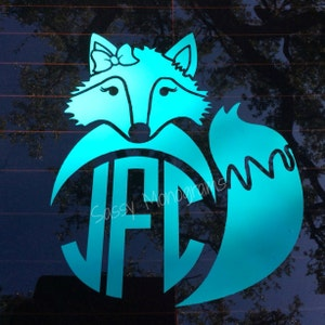 What Did The Fox Say Personalized Monogram One Color Vinyl Decal