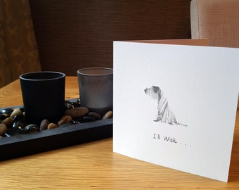 Sitting Dog Greeting Card