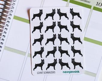 Giant Schnauzer Stickers (Set of 20 Stickers)