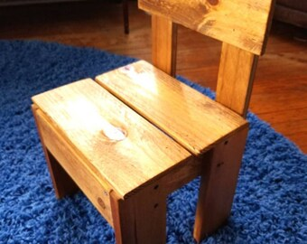 Wooden children's chair