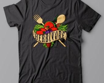 HERBIVORE Vegan T shirt - vegetarian gift