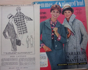 vintage sewing pattern / suit and coat / women - REF.  749