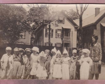 Vintage Photo, 1920s Dutch School Children and Teacher, Vernacular, Kingston, New York, History, Education, Fashion, Class Photo