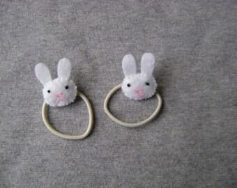 Bunny Rabbit Ponytail Holders