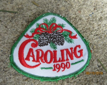 1990 Girl Scout Caroling Patch