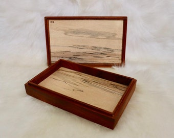 Keepsake Jewelry Box reclaimed wood rustic hand crafted