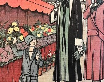 1920's French Fashion Magazine Le Petit Echo de la Mode Sunday March 14 1926