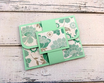 Gift Card Holder, Customizable Gift Card Holder, Gift Card Wallet, Gift Card Envelope, Birthday Gift Card Holder, Green Gift Card Holder