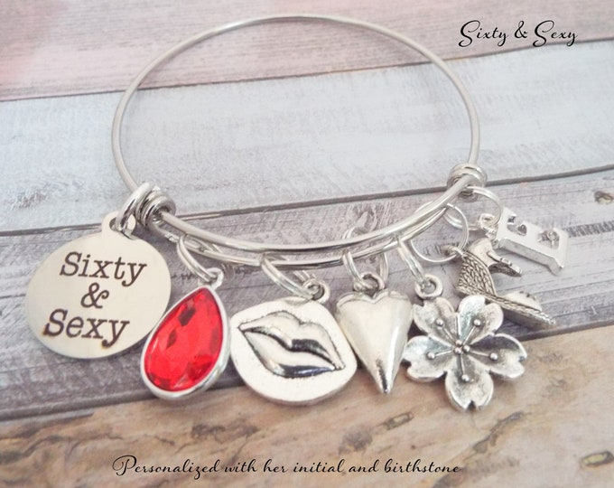 60th Birthday Gift, Gift for 60th Birthday, Women's 60th Birthday Gift, Personalized Gift, Birthday Bracelet, Gift for Her, Gift for Woman