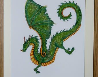 Dragon Greetings Card - Green