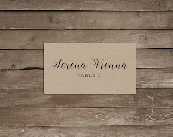Place card template, wedding place cards, place cards wedding, place cards printable, place cards for wedding place cards calligraphy rustic