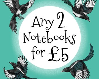 Choose any 2 Notebooks for 5 Pounds Offer