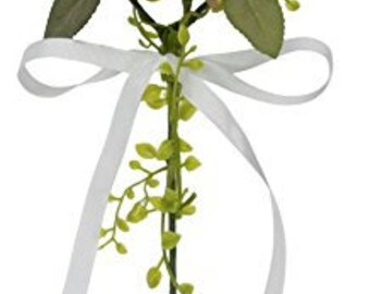 White Rose Wedding Bridesmaid Flower Girl Wand 43cm