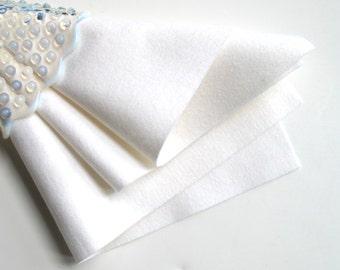 White Felt, Pure Merino Wool, Choose Size, Felt Square, Wool Felt Sheet, Craft Felt, Felt Flowers, Applique, DIY Crafts, Handwork Fabric