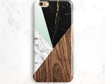 iPhone X Case, Geometric iPhone 7 Case, iPhone 8 Case, Wood iPhone 6 Plus, iPhone 8 Plus Case, Marble iPhone 6 Case, iPhone 7, Wood Marble