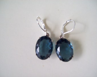 Sterling Silver Earrings - London Blue