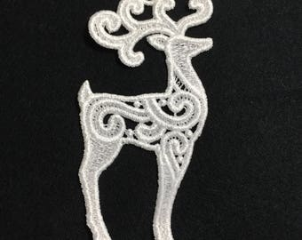 Deer Reindeer Embroidered Free Standing Lace