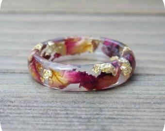Real flower ring Etsy