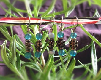 13% off - Asian Bronze Stitch Marker set fits up to size US8/5mm needles