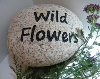 Custom Garden Rocks, Engraved Rock,Garden Rock Marker
