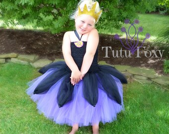 Ursula Tutu Dress, Little Mermaid Tutu Dress, Ursula Costume, Little Mermaid costume, Villain Costume, Villian Tutu Dress