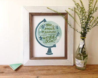 One Touch of Nature Globe Art Print - 5x7, 8x10, 11x14