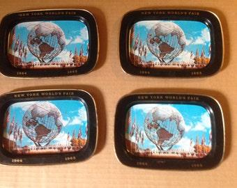 1964-1965 New York Worlds Fair Unisphere Plates