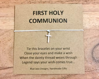 First Holy Communion Favors, Party Favors, Wish Bracelet, Favors For Boys, Favors for Girls, Kids Party Favors, Communion, Religious Gift