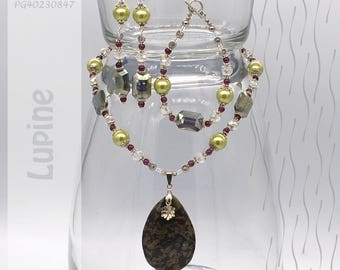 Jewelry Set | Necklace, Bracelet, Earrings | Lupine PG40230847