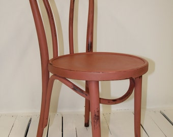 Hand painted wooden chair.