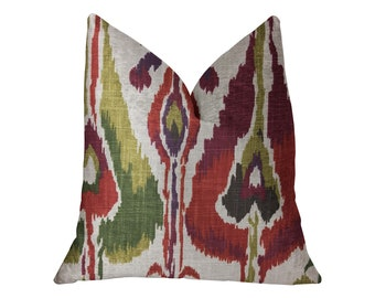 Plutus Tigerlily Luxury Ikat Throw Pillow