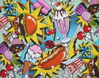 Midnight Snack Cotton Print Fabric From Alexander Henry--By the Yard