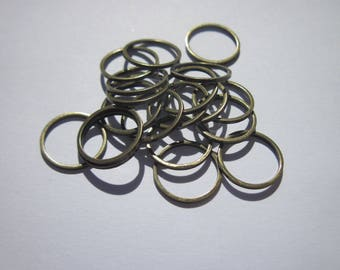 10 large rings welded bronze 14 mm (18)