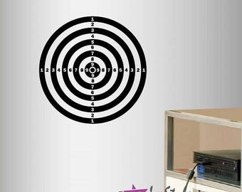 Wall Vinyl Decal Home Decor Art Sticker Darts Target Shooting Target Kids Bedroom Games Play Room Stylish Design 1844